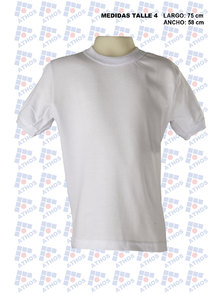 REMERA ADULTO M/CORTA MICROPIQUE BLANCA T. 4