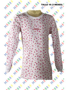 CAMISETA BEBE MANGA LARGA INTERLOCK. TALLE 18