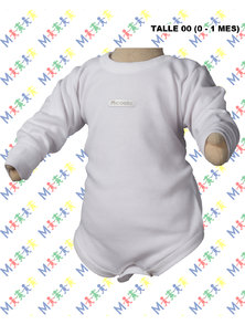 BODY BEBE M/L INTERLOCK BLANCO. TALLE RN