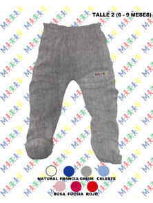 RANITA BEBE INTERLOCK COLOR TALLE 6-9 MESES