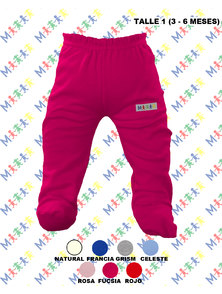 RANITA BEBE INTERLOCK COLOR TALLE 3-6 MESES