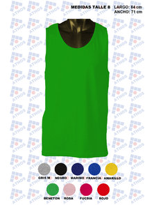 MUSCULOSA ADULTO COLOR ALGODON TALLE 8