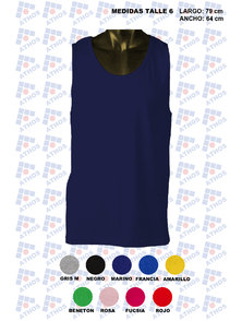MUSCULOSA ADULTO COLOR ALGODON TALLE 6