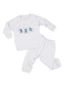 PIJAMA BEBE LARGO INTERLOCK ESTAMP. T. 1 AL 4