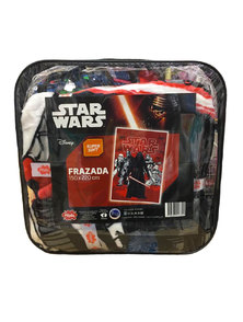 FRAZADA 1 1/2 FLANNEL STAR WARS