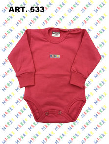 BODY BEBE M/L ALGODON COLOR T. 1 A 3 MESES