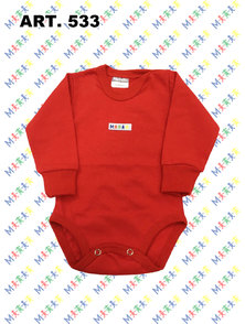 BODY BEBE M/L ALGODON COLOR T. 6 A 9 MESES
